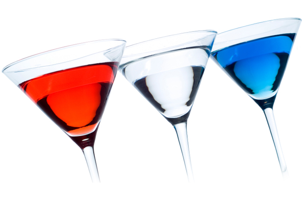 Red, White & Blues Cocktails