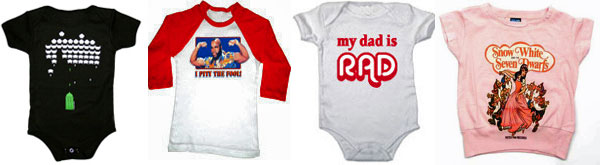 80s tees and onesies for kids