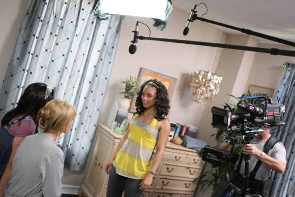Alicia Keys films a Fresh Takes scene