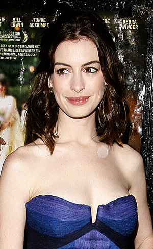Anne Hathaway at the Rachel Getting Married premiere