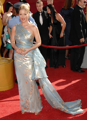 Looking fabulous at the Emmys, Christina Applegate