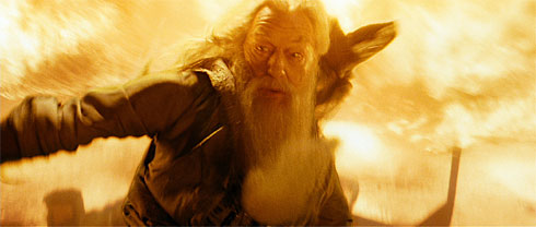Dumbledore looks serious, wonder why?
