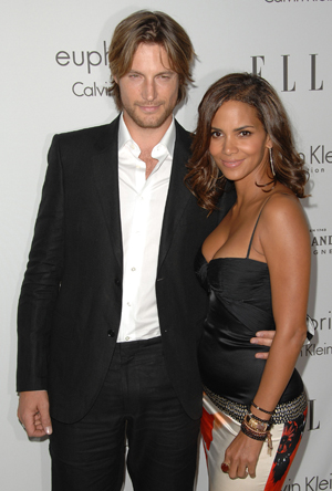 Halle and Gabriel at an Elle event
