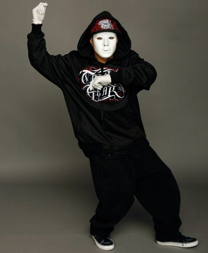Jabbawockeez strikes a pose