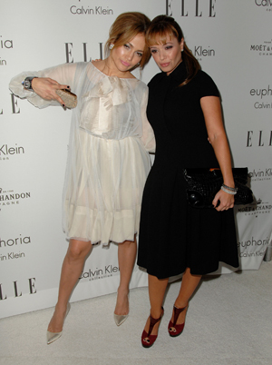 Jennifer Lopez and Leah Remini at the Elle Women in Hollywood event