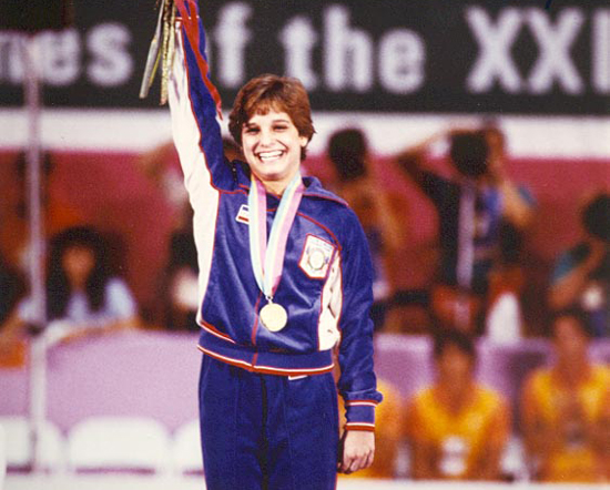 A golden smile from Mary Lou Retton in 1984