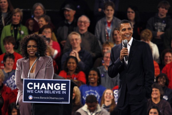 Oprah was the first big name to endorse Obama