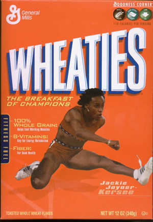 Wheaties always inspires JKK