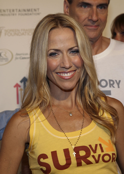 Sheryl at the Stand Up For Cancer event