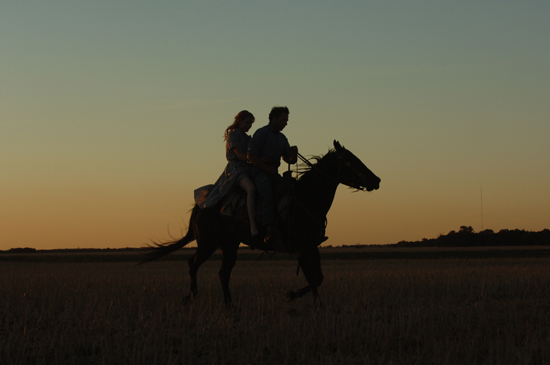 Do they happily ride off into the sunset? See the movie!