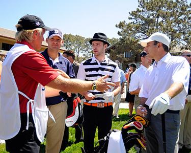 Tony, JT and Matt ready for a round
