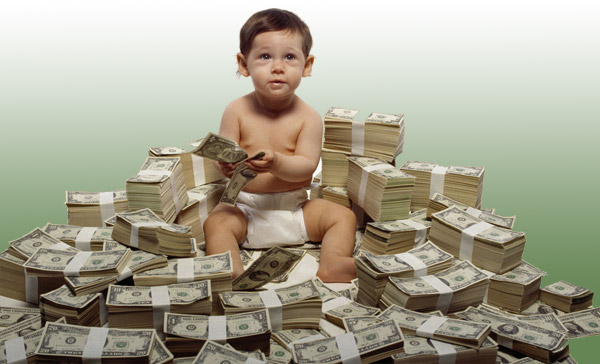 Baby and money