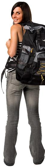 Girl backpacking