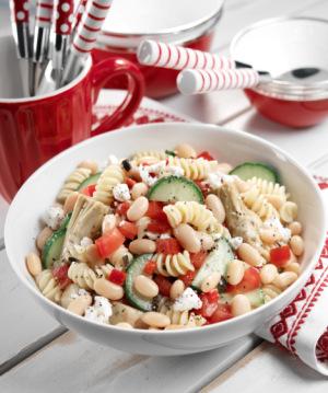Bean pasta salad