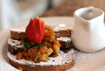 French Toast with Orange Apricot Syrup