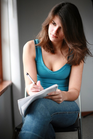 Woman with Journal