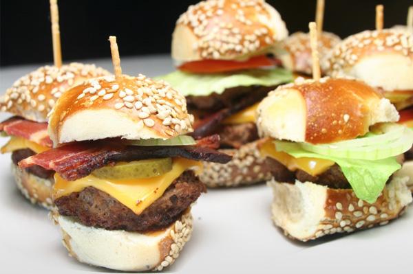 A Variety of Mini-Burgers
