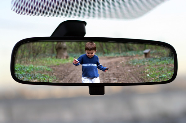 Child Chasing Car