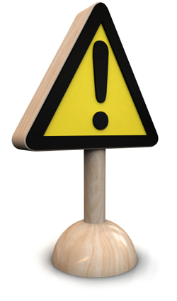 Toy Caution Sign
