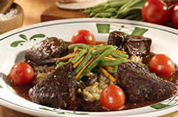 Chianti braised short ribs