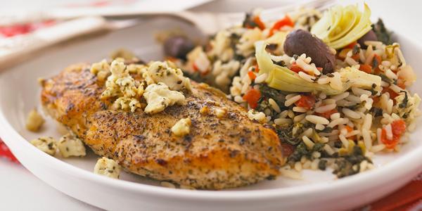 Greek Chicken and Rice