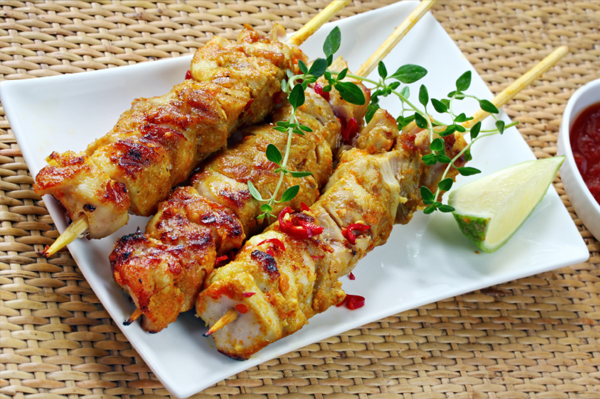 Grilled Chicken Thigh Skewers with Spiced Herb Rub