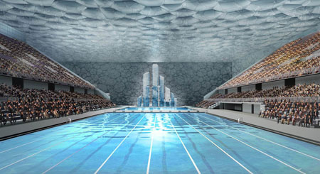 Beijing Olympics - Water cube swimming venue, inside