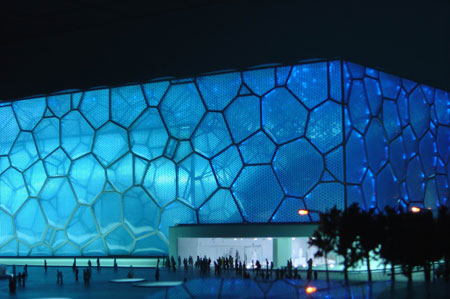 Beijing Olympics - Water cube swimming venue, exterior