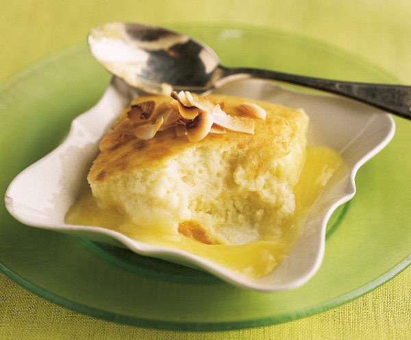 Coconut lime pudding cake