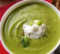 Cold pea soup