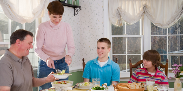 family around dinner table