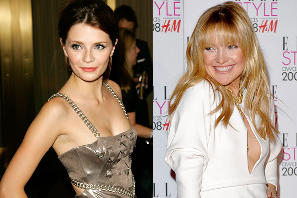 Flat and beautiful: Mischa Barton and Kate Hudson