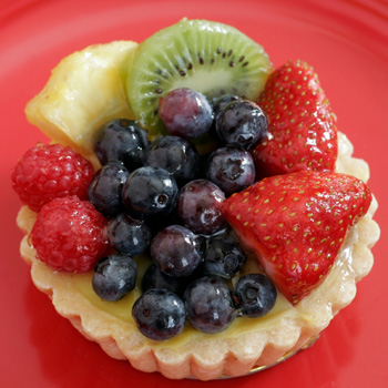 Fruit and Yogurt Almond Tart