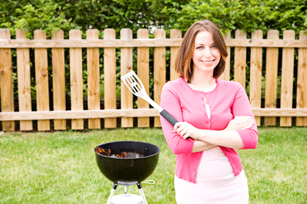 Woman and Grill