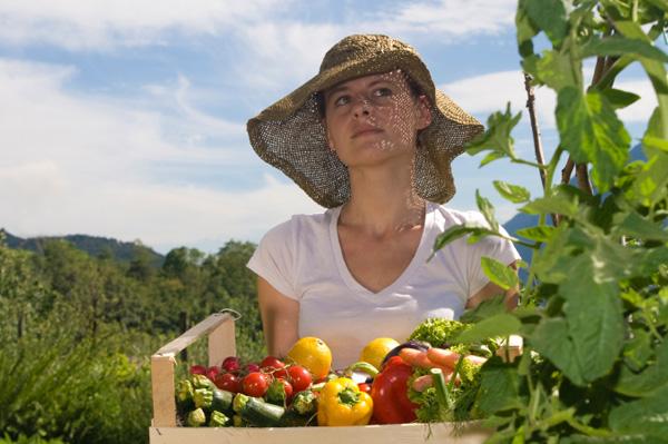 Backyard fruits and veggies