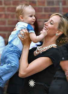 Kim Raver and her son Leo