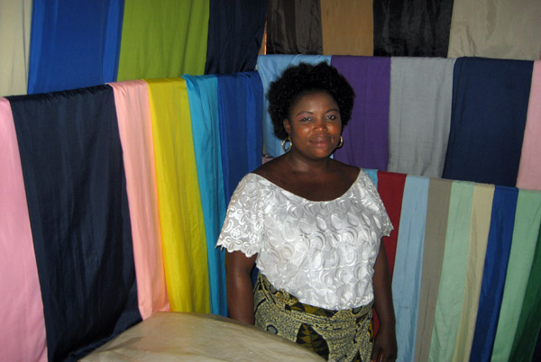 A woman who has a loan via Kiva.org