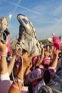 Raising Shoes in Honor