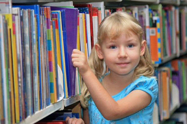 Little Girl at Library