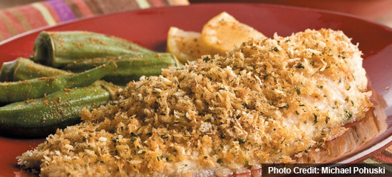 Baked Catfish with Seasoned Breadcrumbs