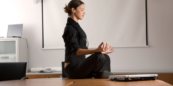 Meditation Businesss Woman