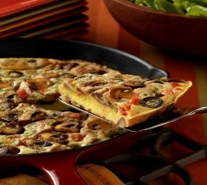 Mushroom frittata