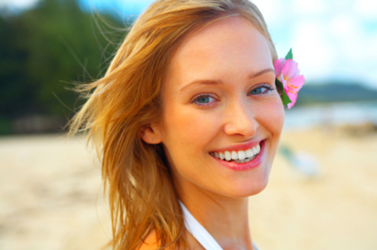 Woman wearing natural summer makeup