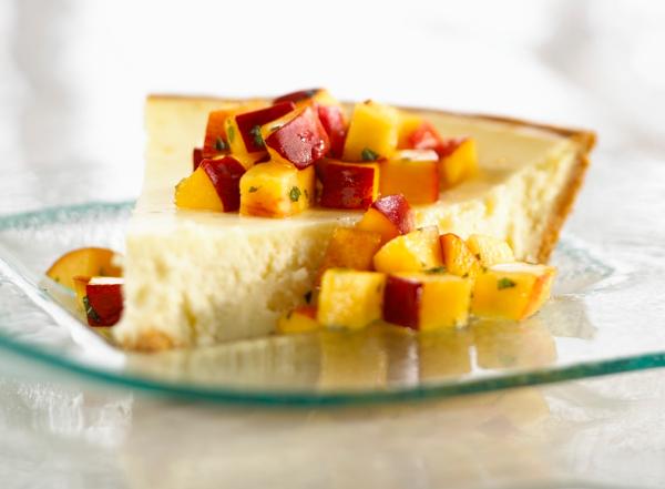 Nectarine cheesecake