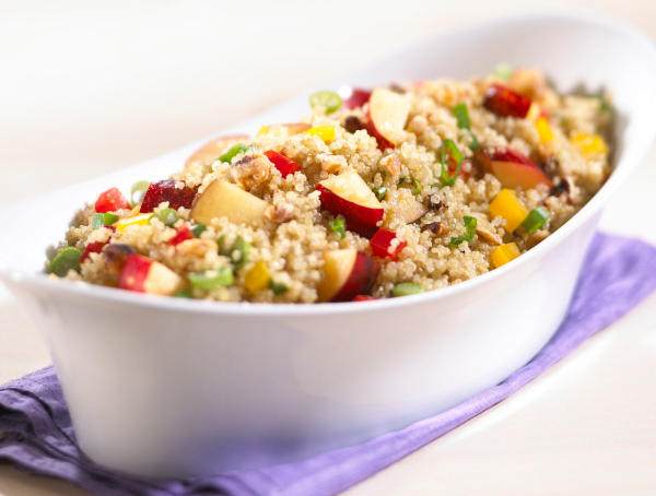 Plum and quinoa salad