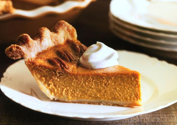 Pumpkin-maple pecan pie