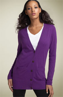 Purple boyfriend cardigan