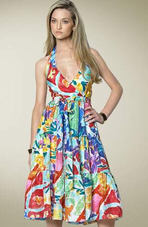 Ralph Lauren floral silk dress