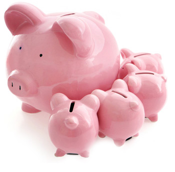 Family of Piggy Banks