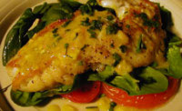 Snapper with Tomatoes and Spinach